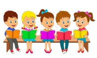 kids-boys-girls-read-books-sit-bench-illustration-vector-boys-girls-read-books-146308500