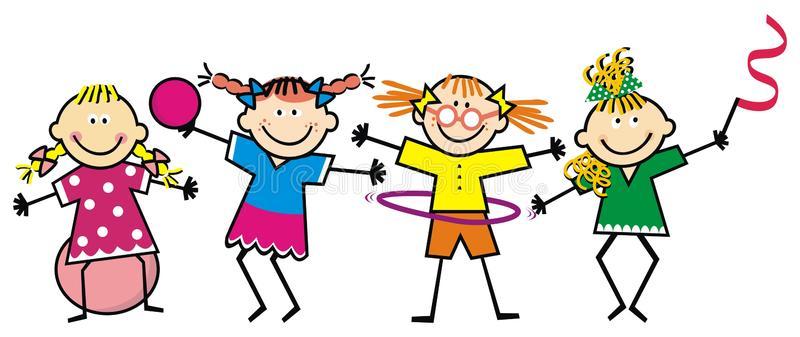 happy-kids-girls-fitness-funny-vector-illustration-girls-trains-ball-ribbon-hula-hoop-funny-illustration-children-111265187
